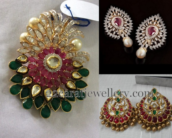 Large Kundan Diamond Tops Locket