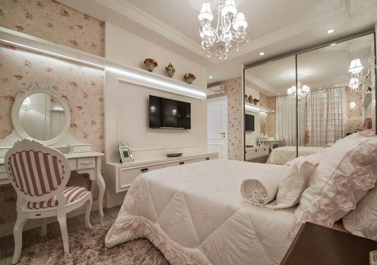 Decoração quarto de menina floral Jeito de Casa Blog  ~ Quarto Rustico Contemporaneo