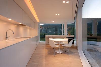 Glass pavilion house, Lake Lugano, Switzerland