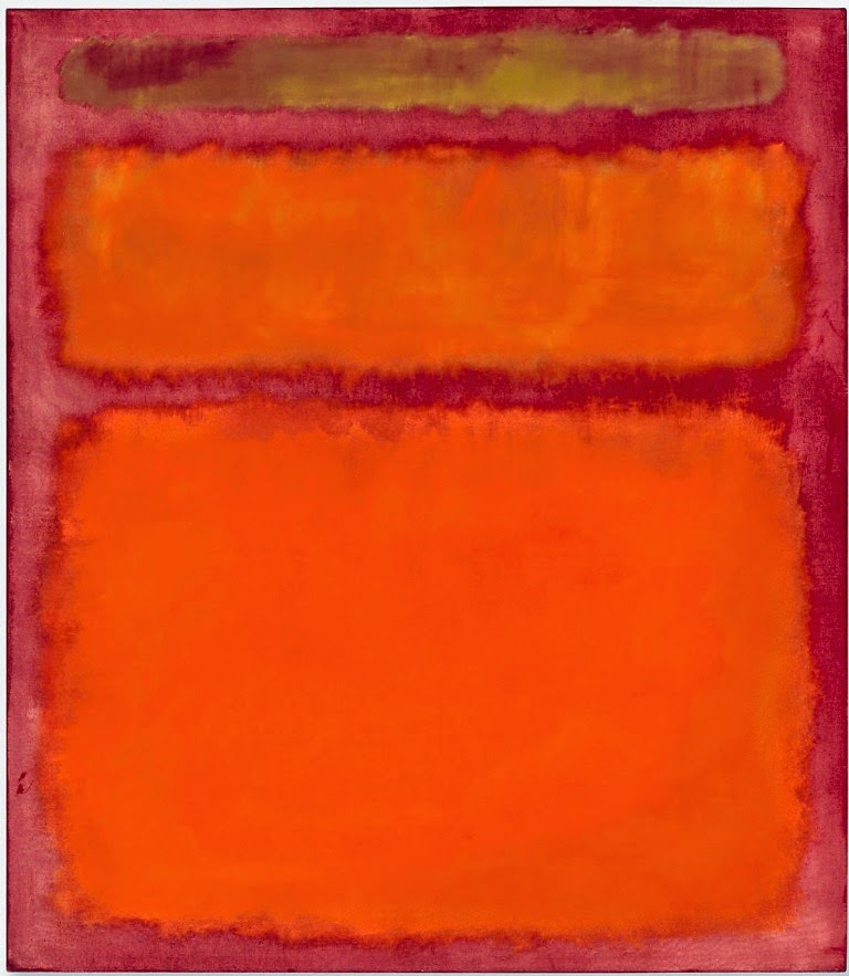 Mark Rothko Orange, Red, Yellow.