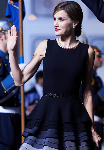 King Felipe VI of Spain, Princess Letizia of Spain and Queen Sofia of Spain attend the Princess of Asturias awards ceremony