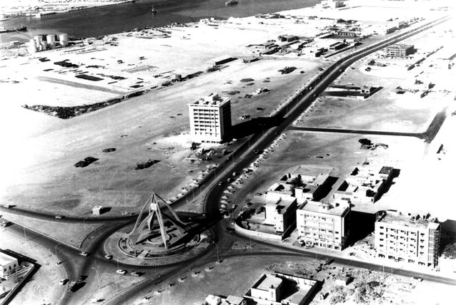 Clock Tower Dubai - One of the oldest and most prominent landmarks - dubai uae rare old photo