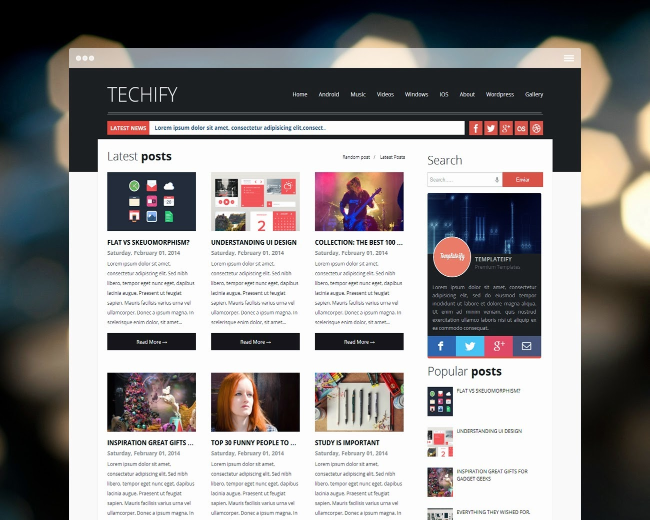 TECHIFY blogger templates