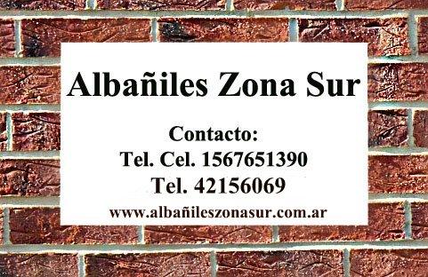Albañiles Zona Sur Berazategui Quilmes Lanus Lomas