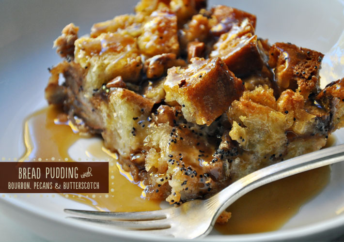the parsley thief: Bread Pudding with Bourbon, Pecans & Butterscotch