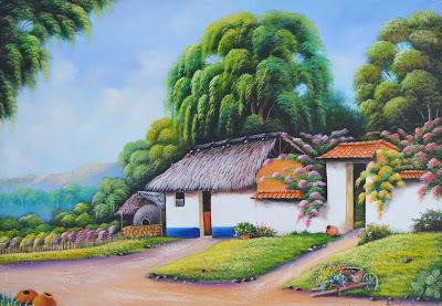pueblos-pintura-oleo