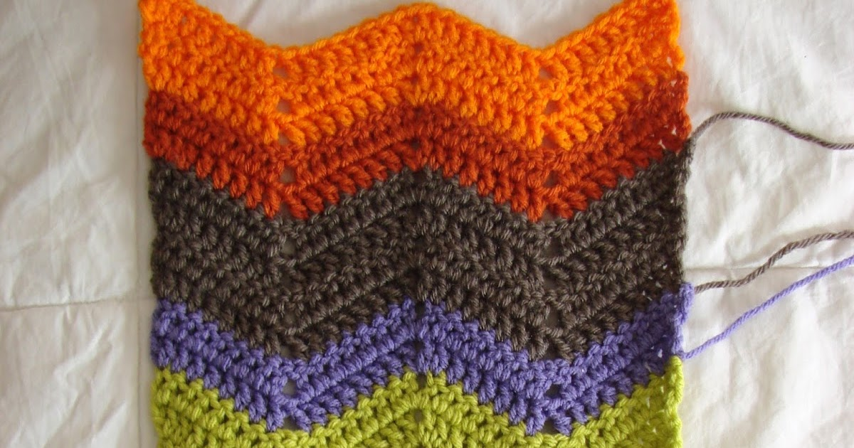 Crochet In Color Chevron Scarf Pattern