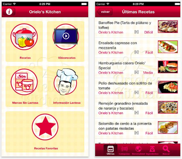 Chef Orielo. App recetas sin lactosa