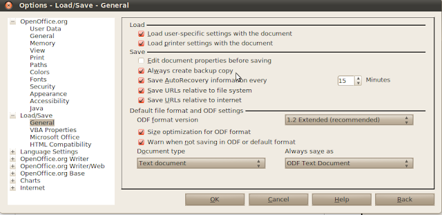 backup data openoffice