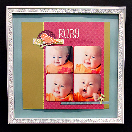 "Framed Scrapbook Page ""Ruby"""