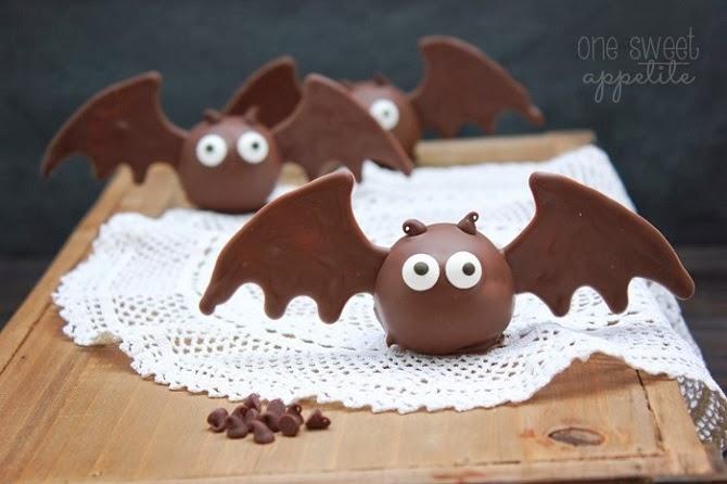halloween bat truffles