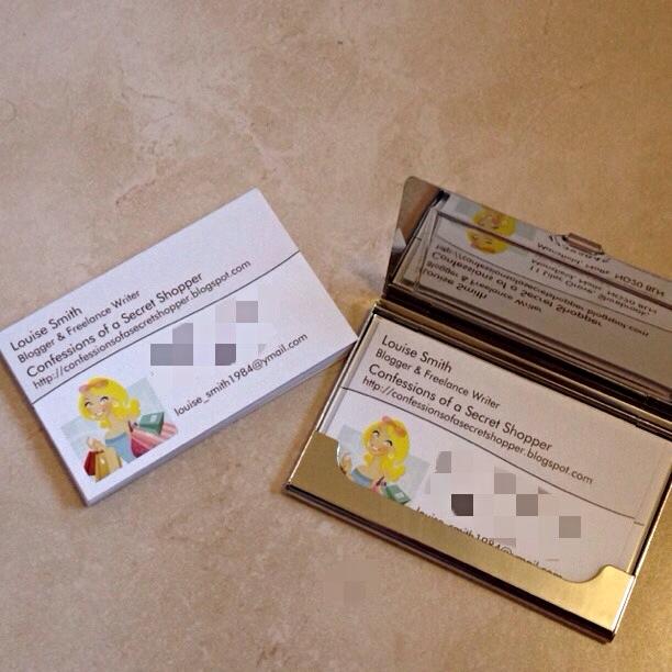 Confessions of a secret shopper review premium business for Vistaprint business card reviews