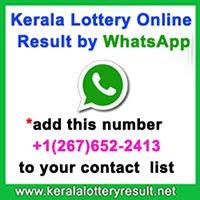 Kerala Lottery Online  Result by WhatsApp