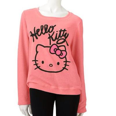 Model Sweater Motif Hello Kitty Untuk Remaja