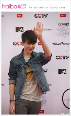 Greyson Chance arriving to the MTV Mandarin Awards Show in Beijing
