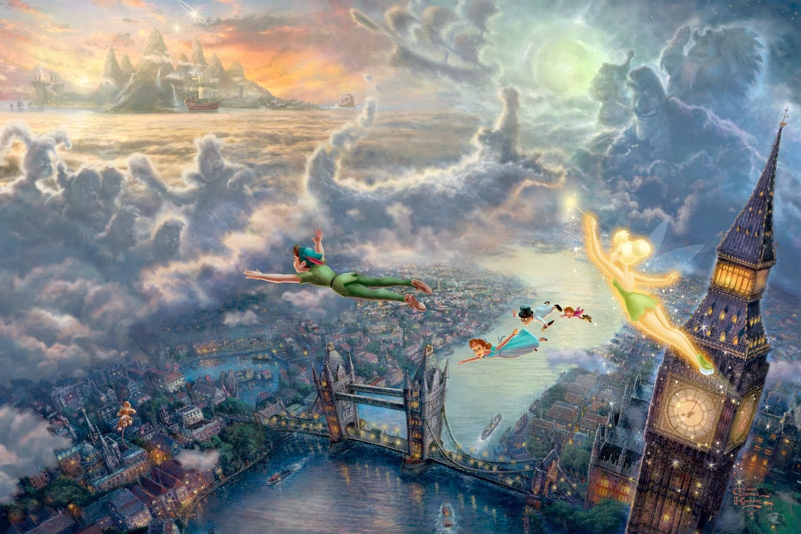 'Peter Pan' - Thomas Kinkade