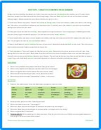 PDF - Diet Tips - 5  Ways to Control Your Hunger - ESL Worksheet