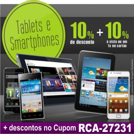 Tablets e Smartphones Desconto 10% + 10%