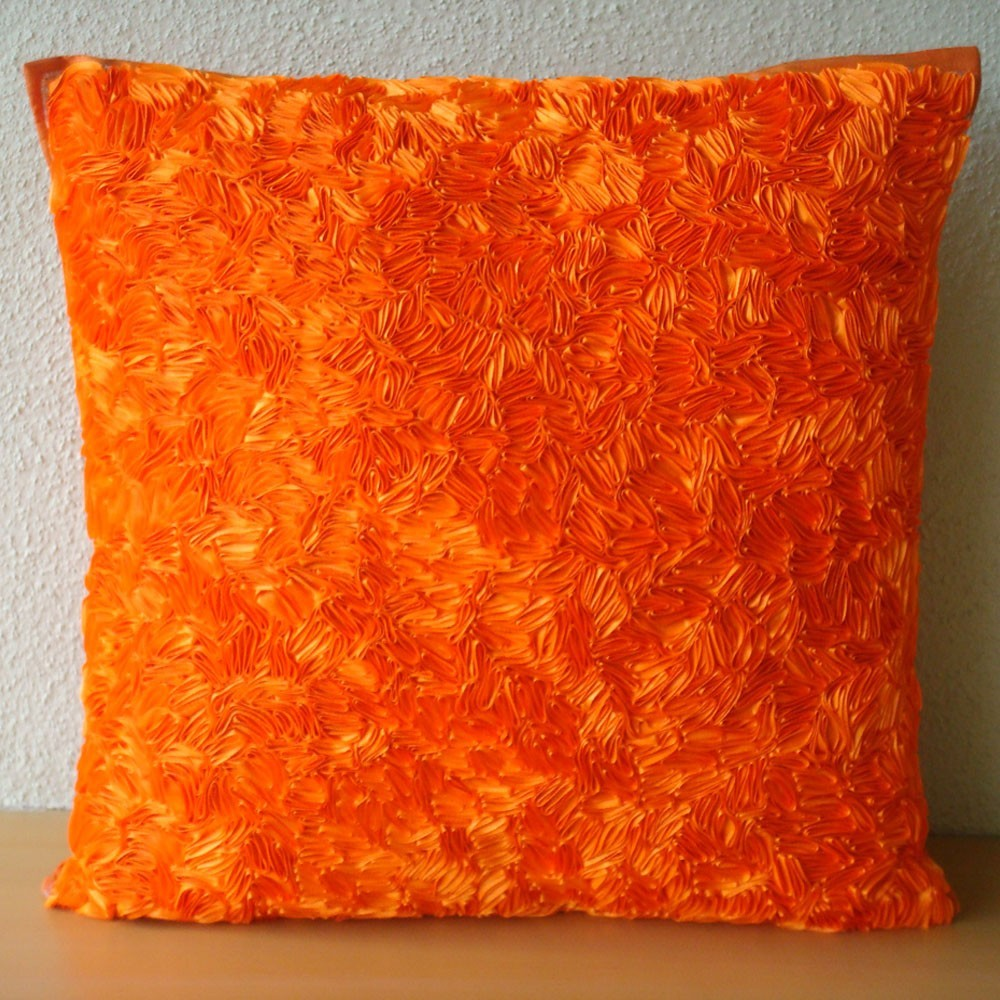 Orange Decorative Pillows Couch : StoneImpressions Blog: Orange is a Diva