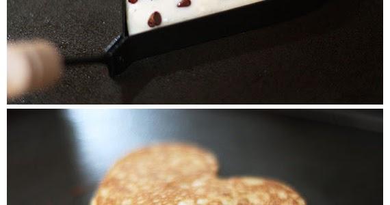Heart-Shaped Chocolate Chip Banana Pancakes - joysama images
