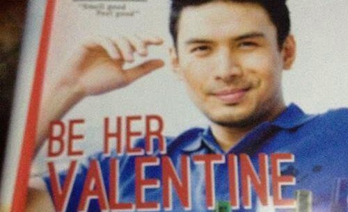 Epic fail on Christian Bautista's Blackwater print ad