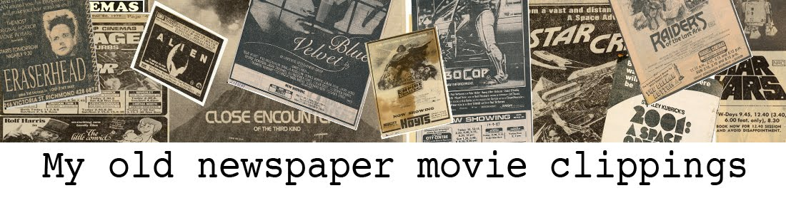 1970s and 80s Newspaper Movie Clippings
