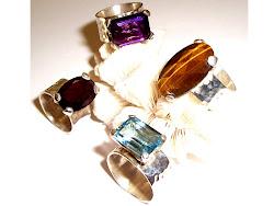anéis de pedras brasileiras