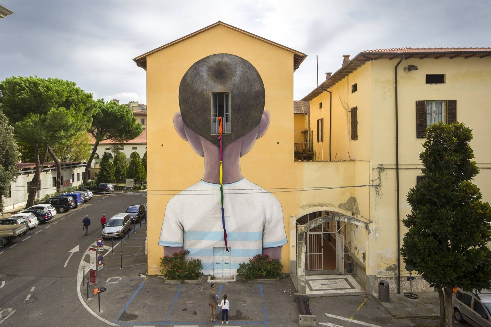 A mural in Arezzo, Italy