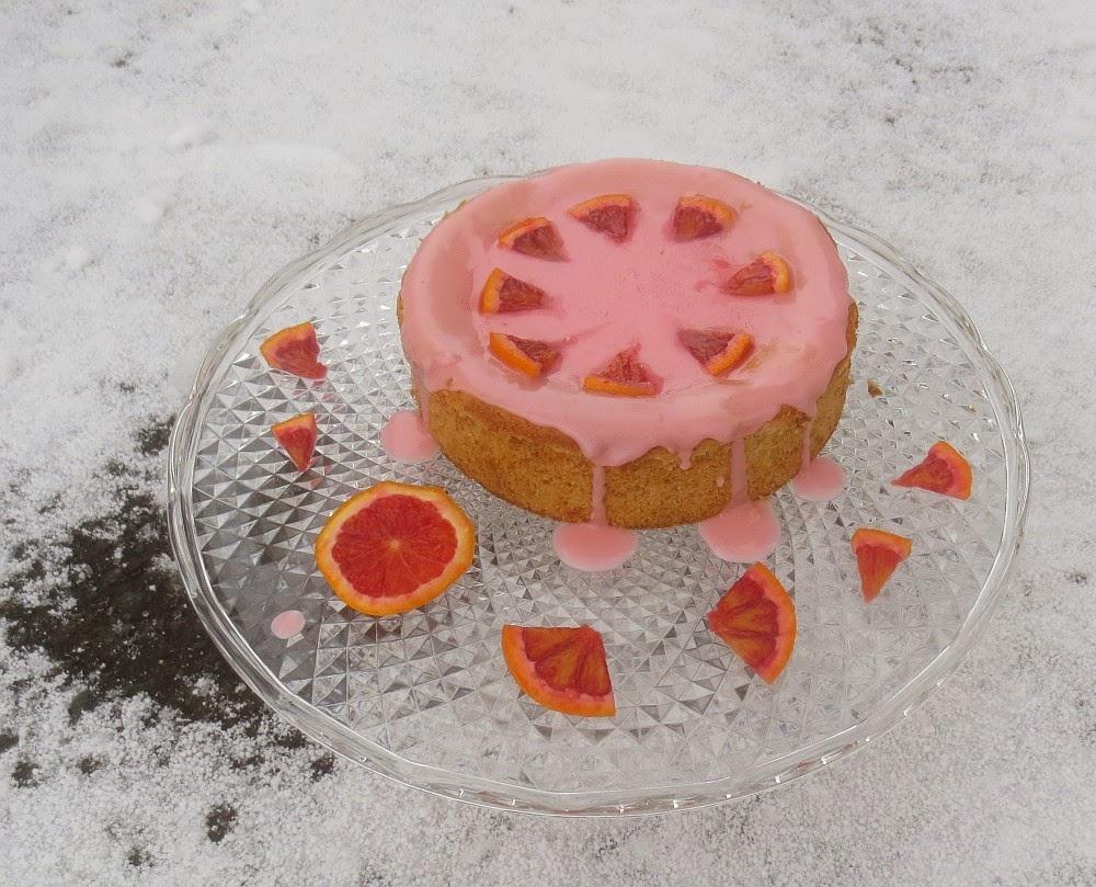 Blutorangen-Marzipan-Kuchen