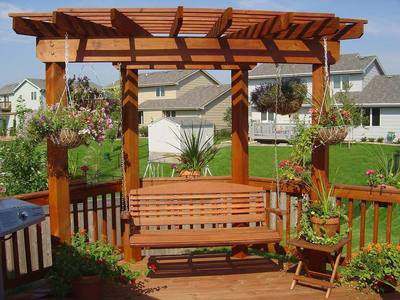 Garden Pergola With Swing Backyard And Patios