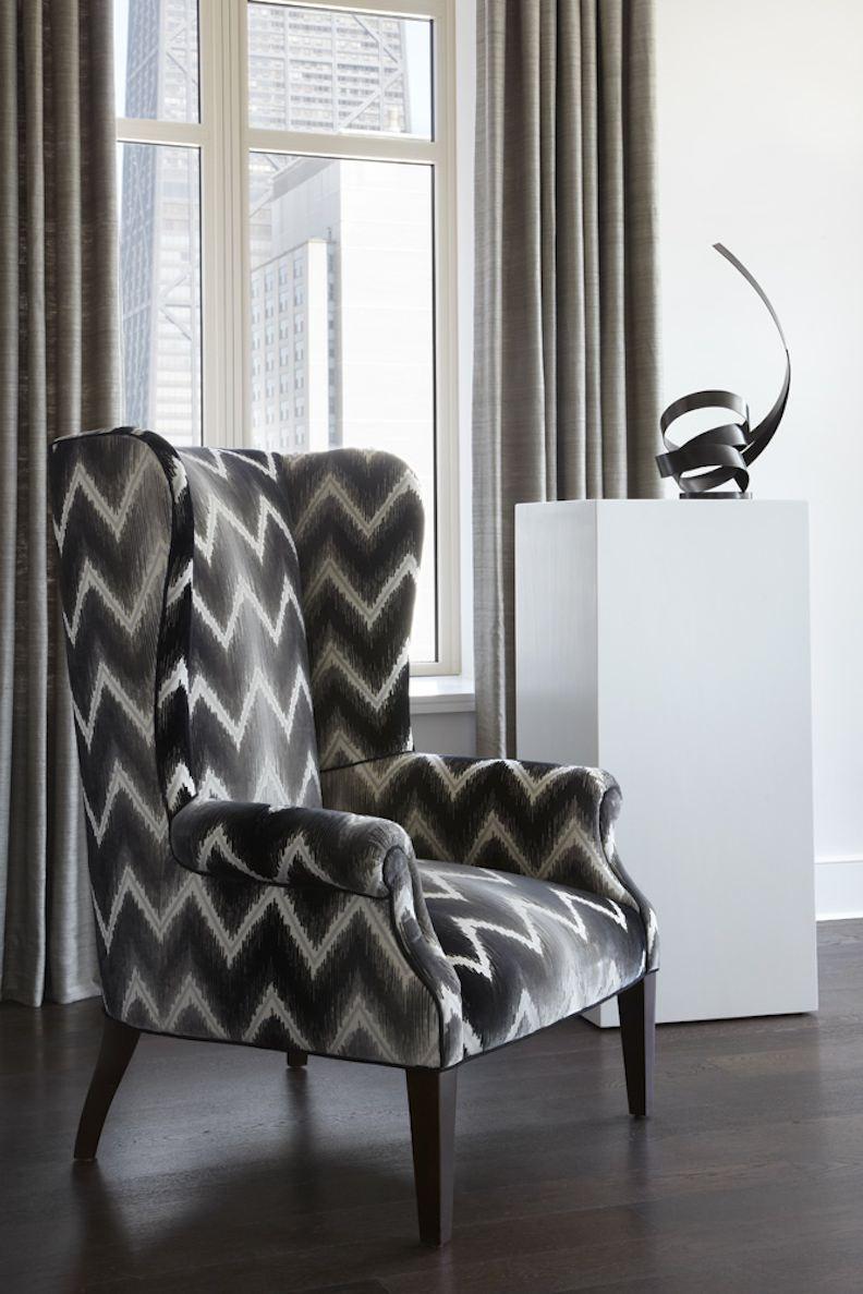 Chevron wing chairs - Julia Wong