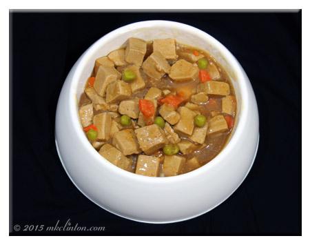Merrick Backcountry Alpine Stew in dog bowl