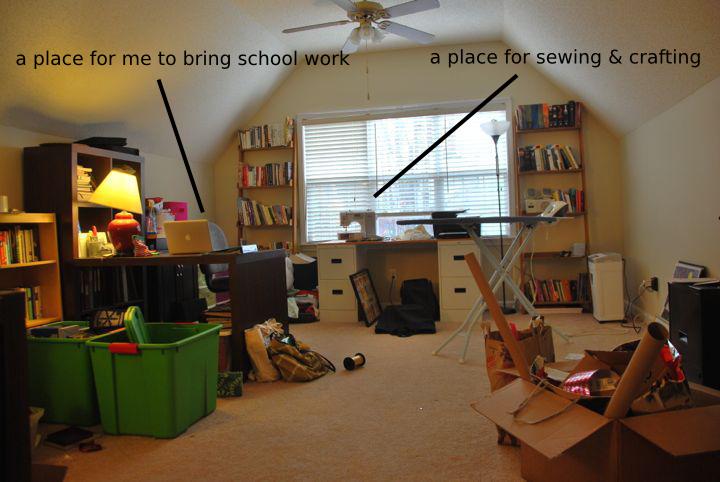 bonus room organization foster house. Black Bedroom Furniture Sets. Home Design Ideas