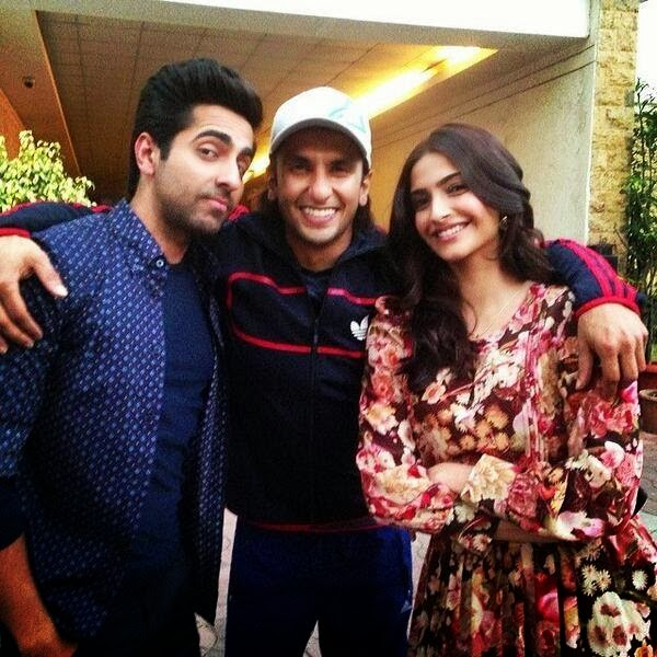Ranveer Singh , Ayushmann Khurrana & Sonam Kapoor at YRF Studios