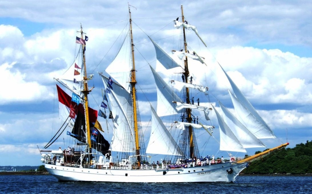 KRI Dewaruci Sailing Ship Wallpaper 1