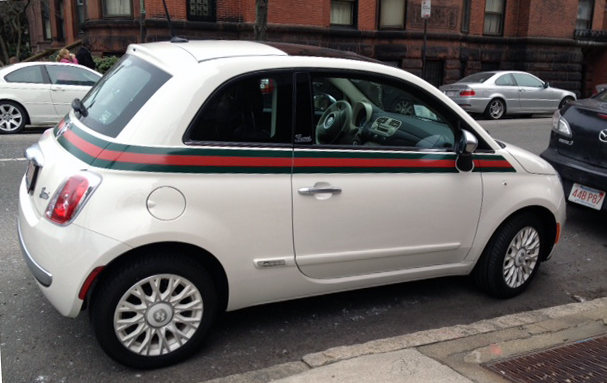 A Proper Bostonian Car Candy The Gucci Fiat 500