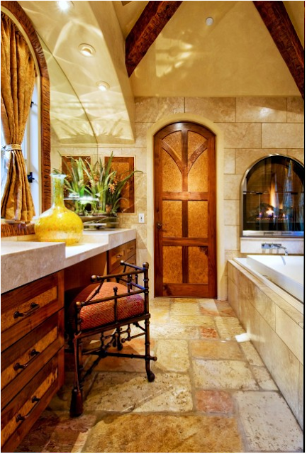 Home design interior tuscan master bathroom ideas Tuscan style bathroom ideas