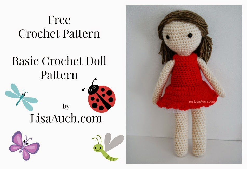 Free Crochet Amigurumi Doll Pattern (A Basic Crochet Doll Pattern FREE ...