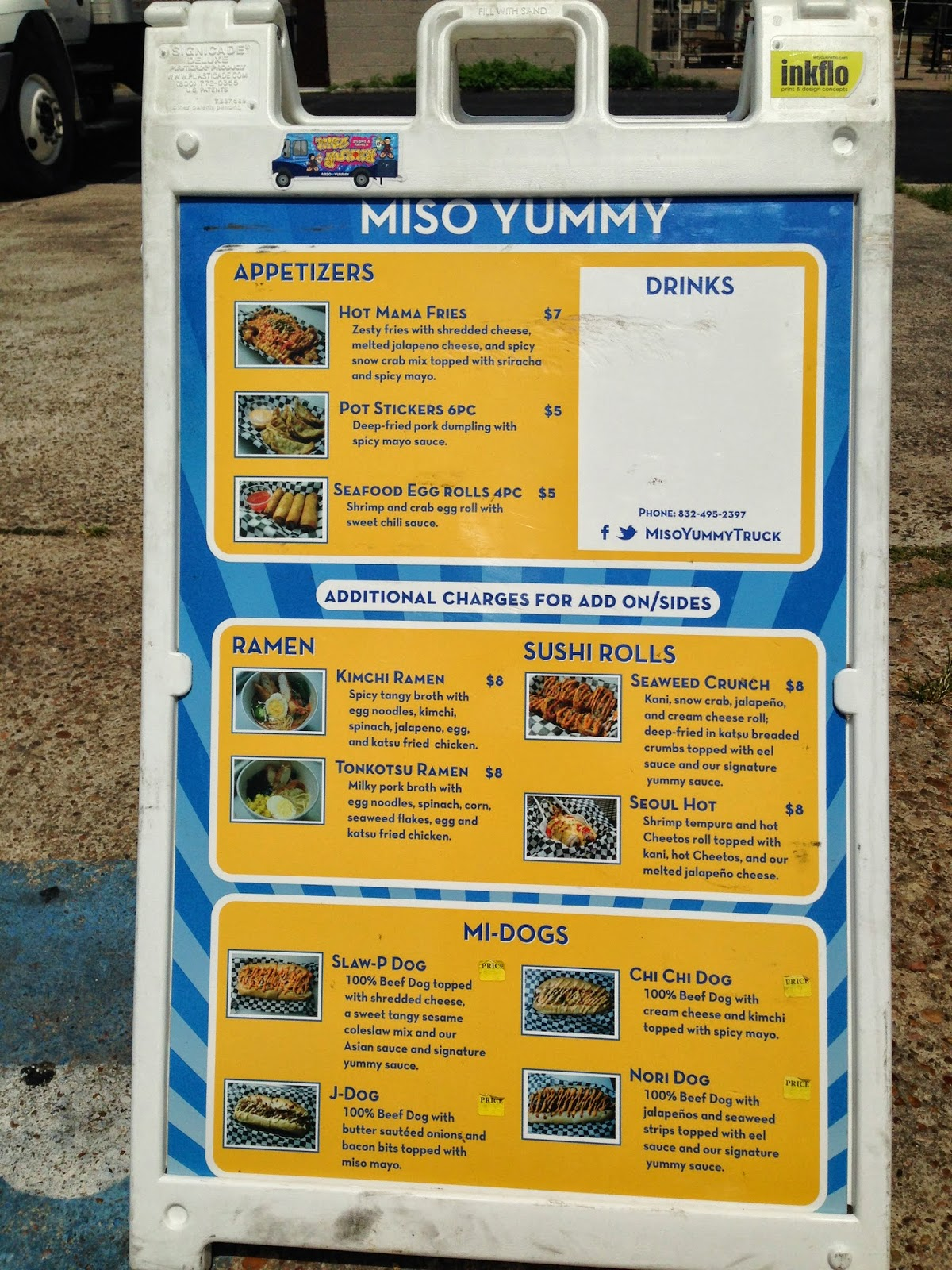 Miso Yummy Food Truck Menu