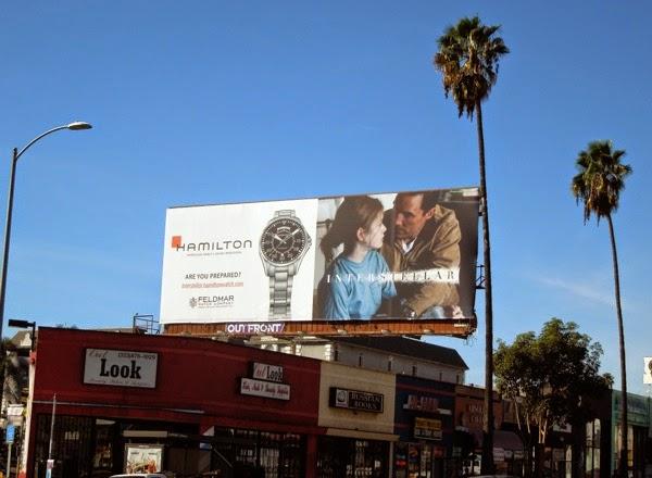Hamilton watch Interstellar movie billboard