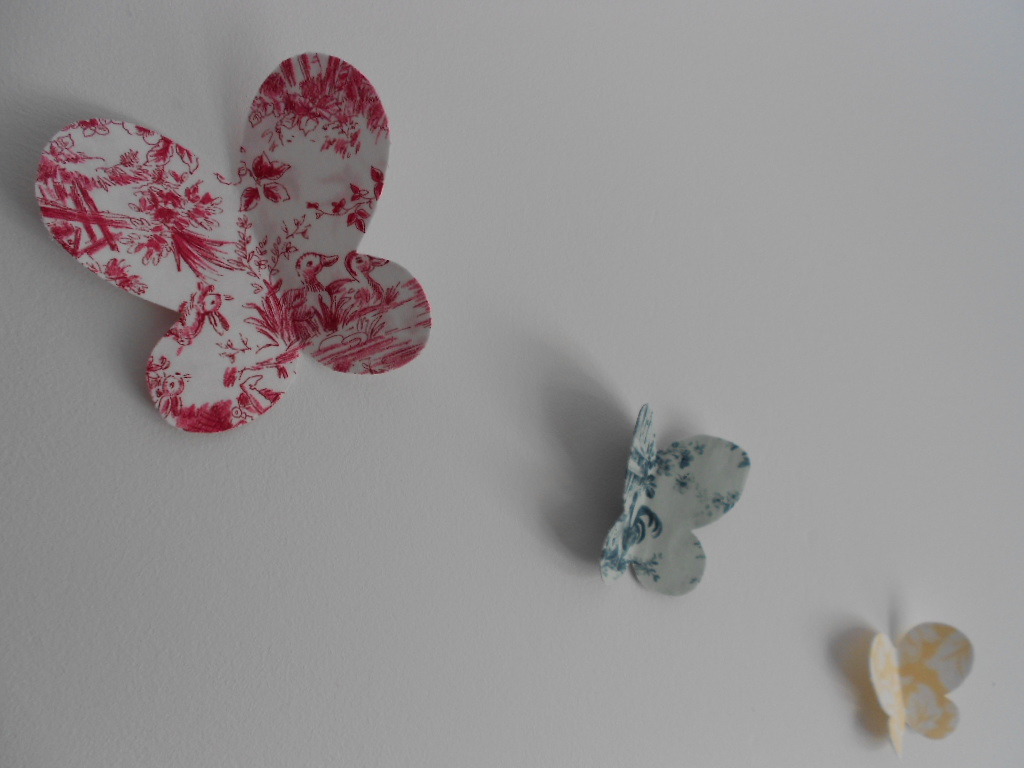 Mar amanual como hacer mariposas de tela para la pared - Mariposas en la pared ...