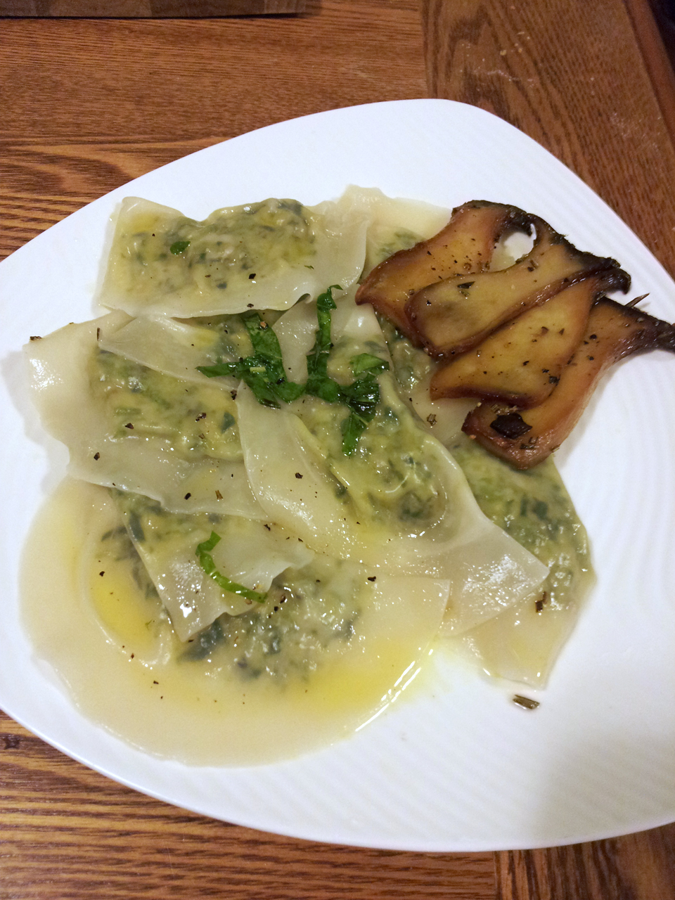 Veggie Fixation: Pea Shoot and Cashew Cheese Wonton Ravioli
