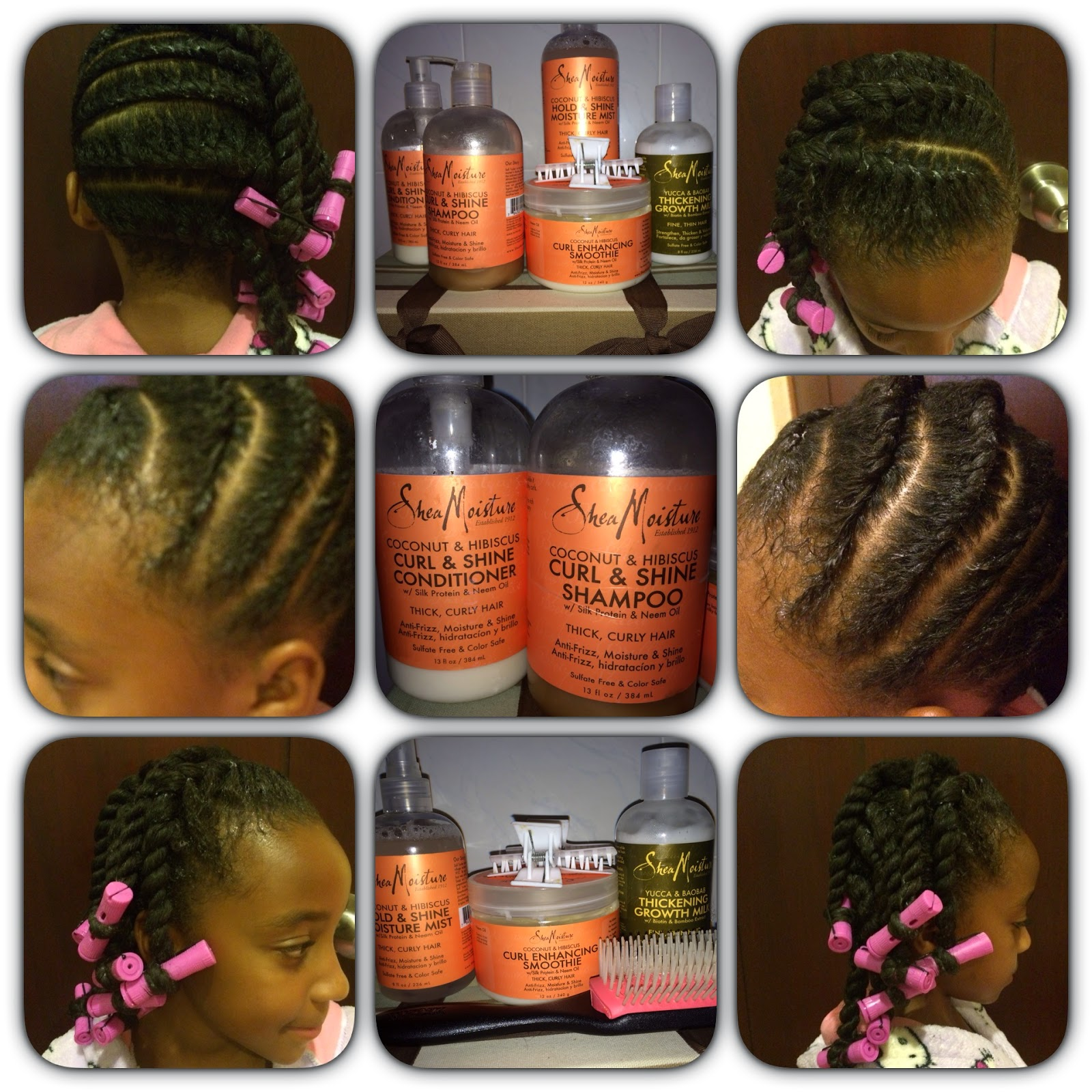 Back To The Future Naturally Shea Moisture Flat Twist Out Tutorial