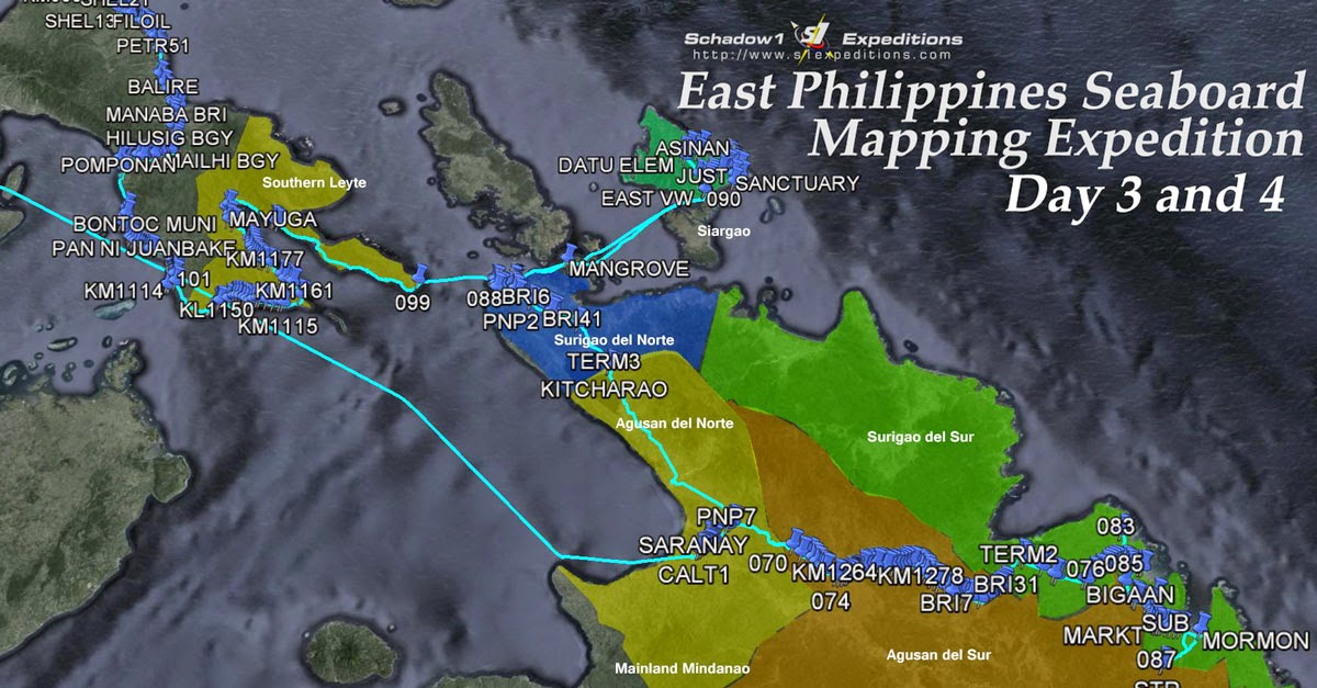 Part 2 of East Philippines Seaboard Mapping Expedition 2015