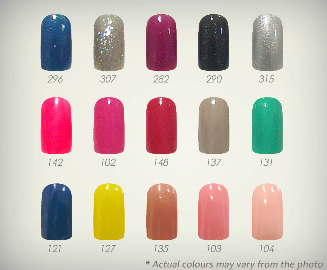 Artpro nails sg december 2012 which gel nail colour do you love the most select 5 out of the 15 hottest gel nail colours for your nailla gel nail kit today solutioingenieria Image collections
