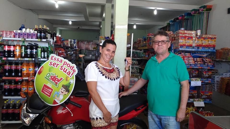 GANHADORA DA MOTO NA REDE OESTE E MERCANTIL ESTRELA!