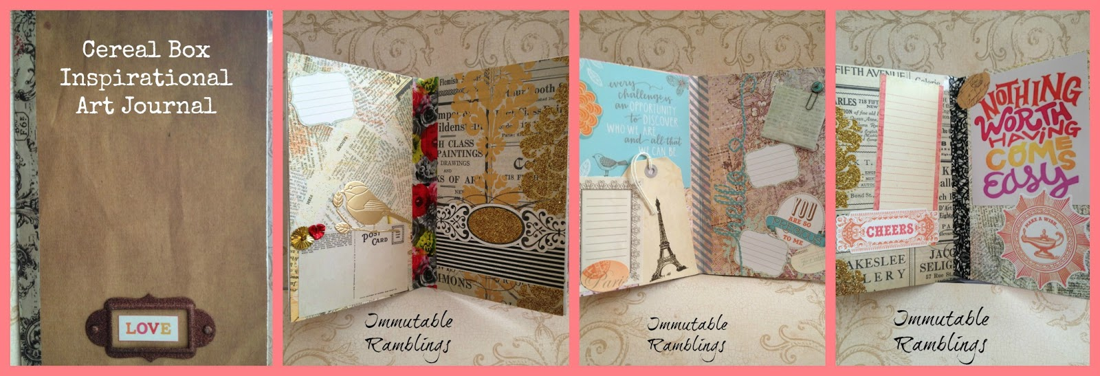 Cereal box inspirational art journal tbccrafters immutable ramblings what would you make out of a cereal box ccuart Images