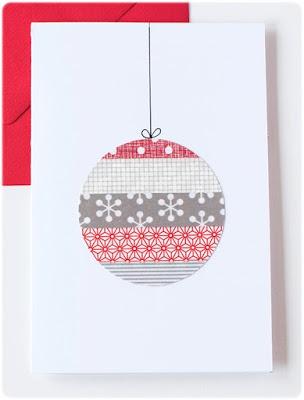 Tarjeta Navidad washi tape DIY