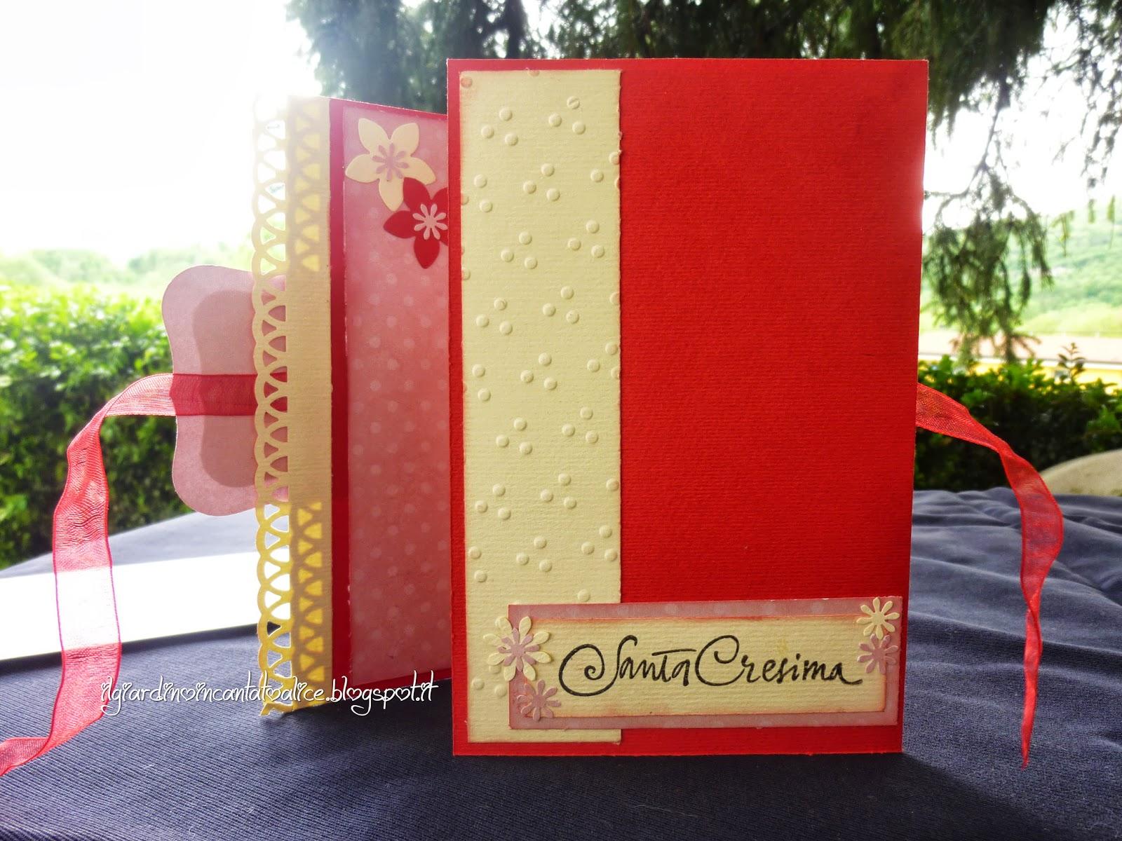 spesso Il giardino incantato di Alice: Card portasoldi per una Cresima MQ77