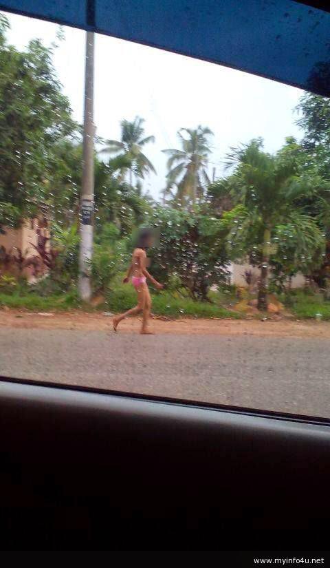Wanita Penagih Syabu Berjalan Tanpa Pakaian?